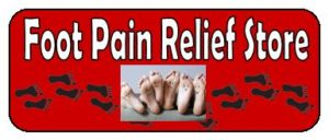Foot Pain Relief Sign